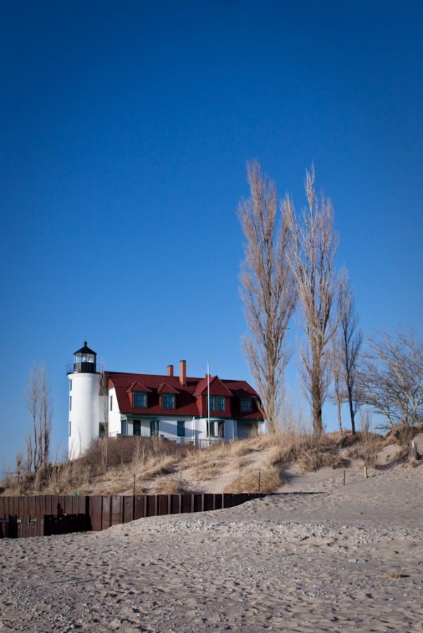 A March 2009 photo of Pt. Betsie Lighthouse