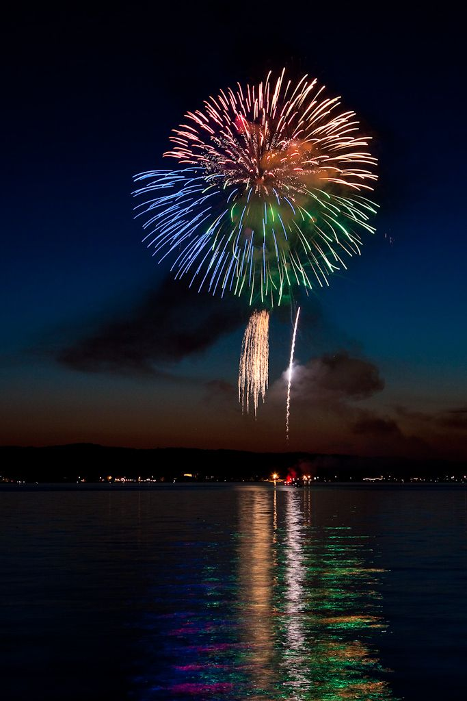 Fireworks over Grand Traverse Bay