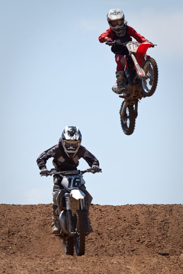 Two riders during the Grattan Michigan motocross
