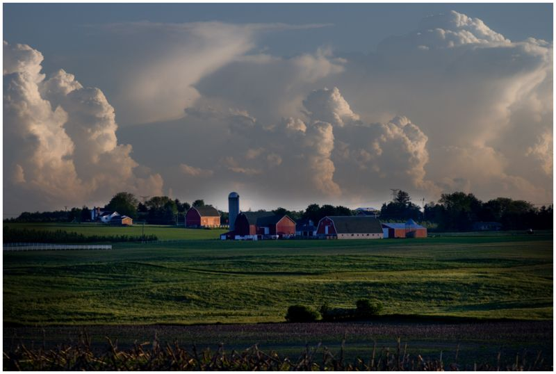 Storm Clouds and Farm