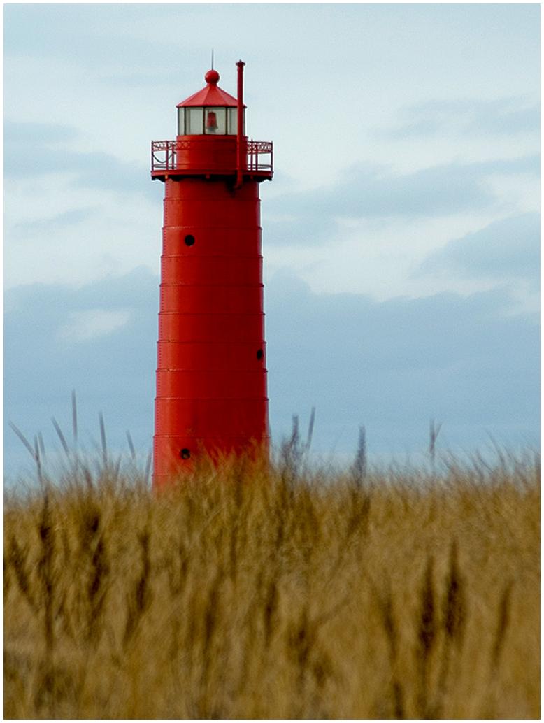 Light Tower and Beach Grass