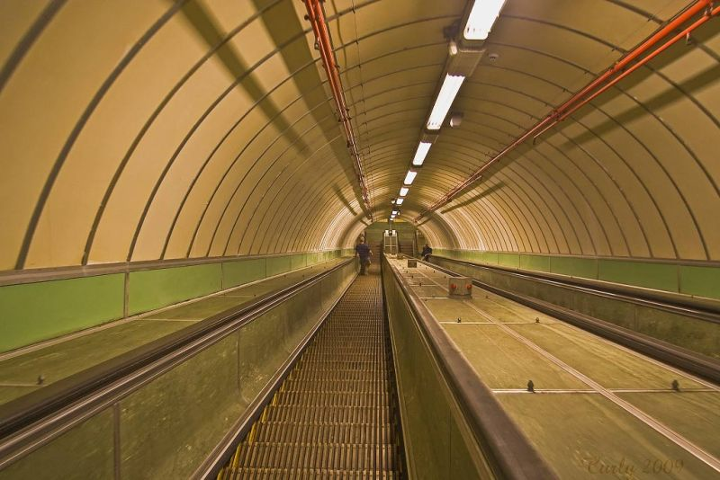 The Tyne pedestrian tunnel, Jarrow