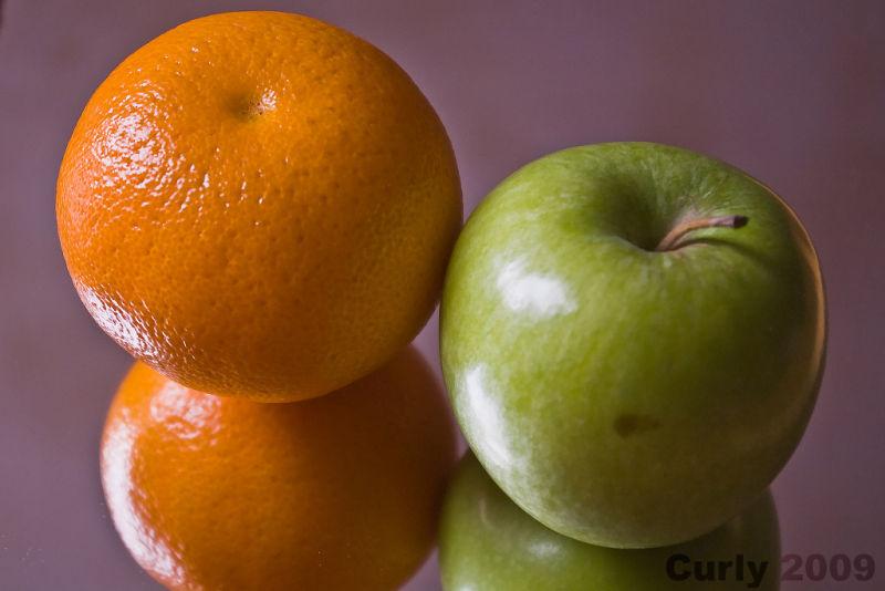 Orange and apple