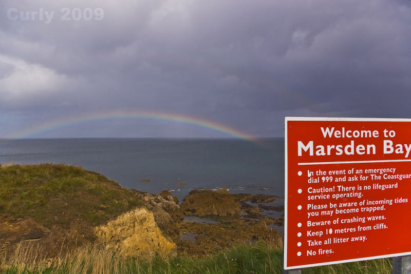 Rainbow at Marsden Bay, South Shields