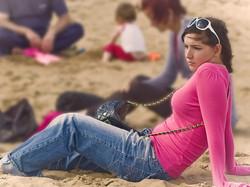 girl on beach, South Shields