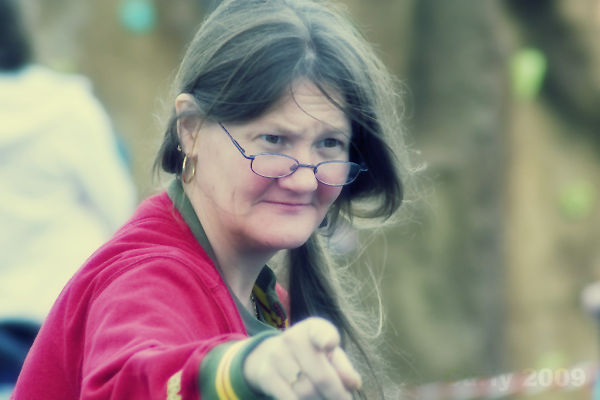 Portrait of lady at Enviro Fair, South Shields