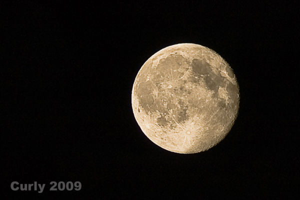 The full moon as seen over South Shields