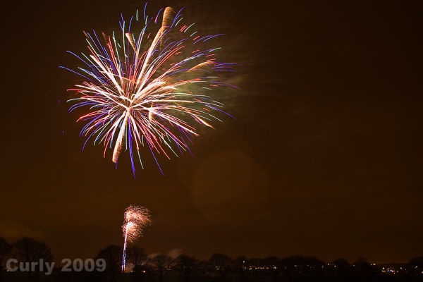 Guy Fawkes fireworks, Cleadon near South Shields