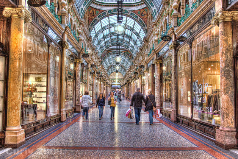 Shopping arcade, Leeds City centre