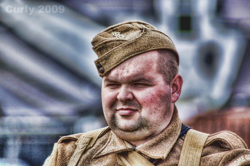 Re-enactment soldier, Roman Fort, South Shields