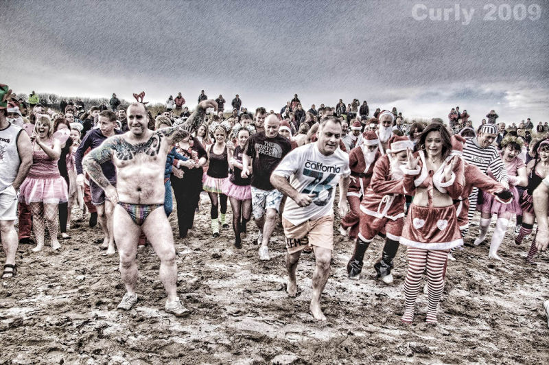 Charity dip, South Shields