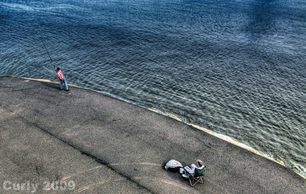 Fishing from the Groyne, South Shields