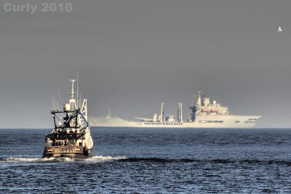 RFA Wave Knight off South Shields