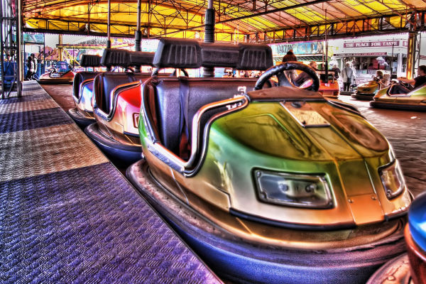 Dodgem cars Ocean Beach Amusements South Shields