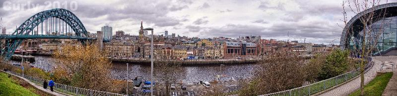 Newcastle upon Tyne panorama
