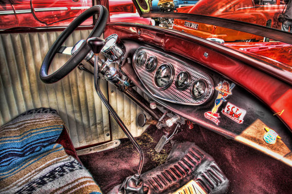Car interior, Bents Park, South Shields