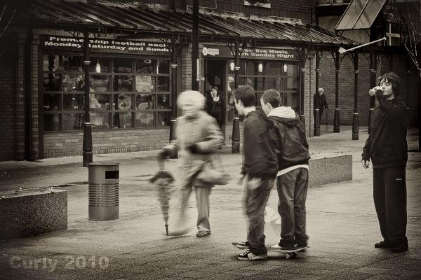 Skateboards, Denmark Square, South Shields