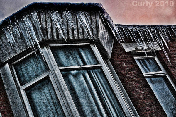 Icicles in South Shields