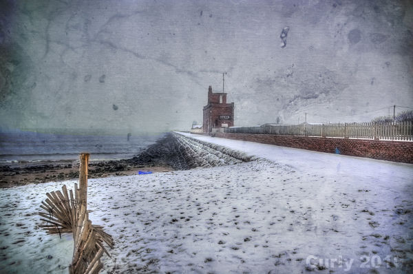 South pier, South Shields, in winter