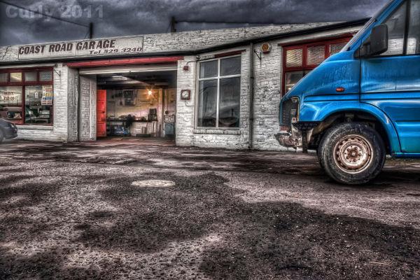 Coast Road Garage, Whitburn near South Shields