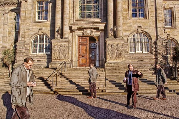 Visitors to South Shields town hall