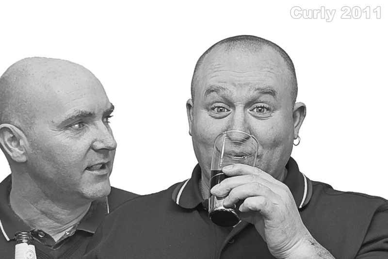 Two men drinking in South Shields