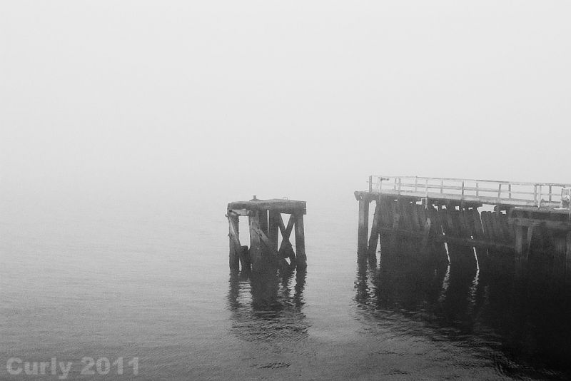 River Tyne in fog, South Shields