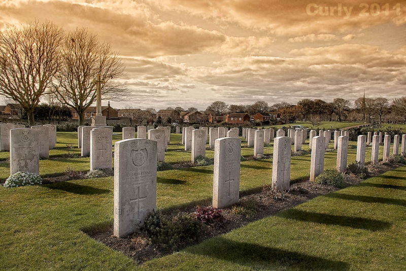 War graves Harton Cemetery, South Shields