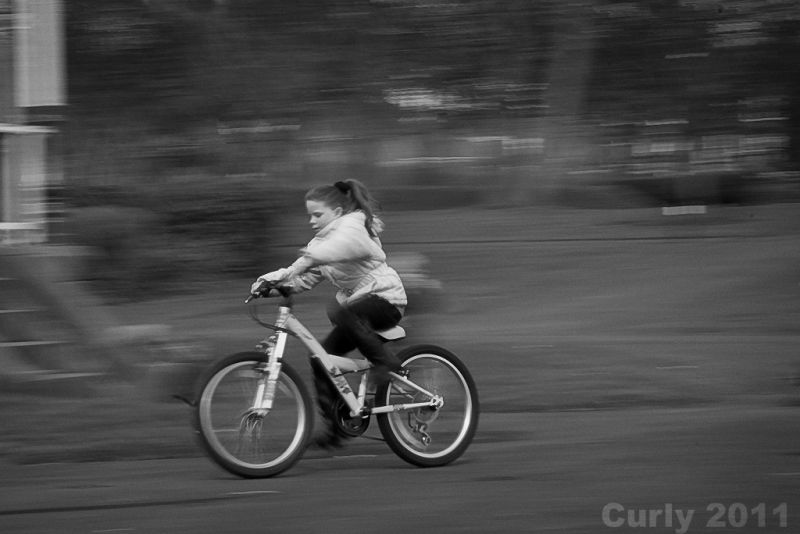 Cycling in the West Park, South Shields