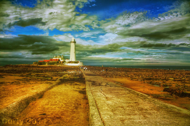 St. Mary's lighthouse, Cullercoats, Whitley Bay