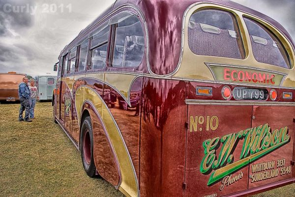 Old Economic bus, Bents Park, South Shields