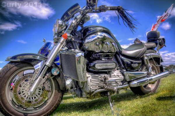 Triumph motorbike, south shields