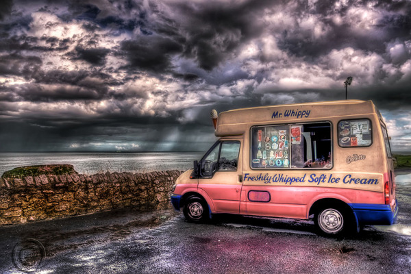 Ice cream van , Marsden, South Shields.
