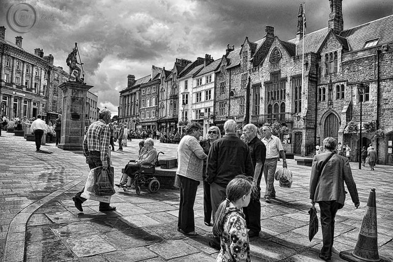Durham City, market place.