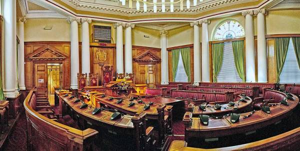 South Shields Town Hall council chamber