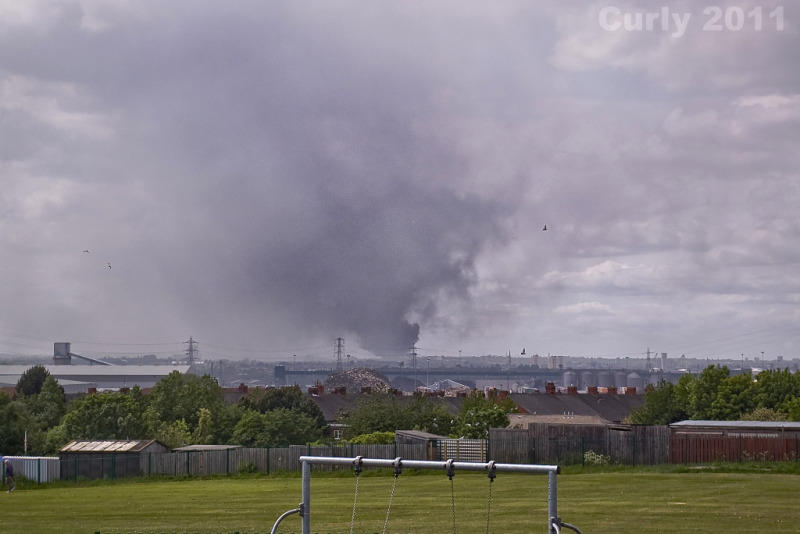 Scrapyard fire, newcastle upon tyne.