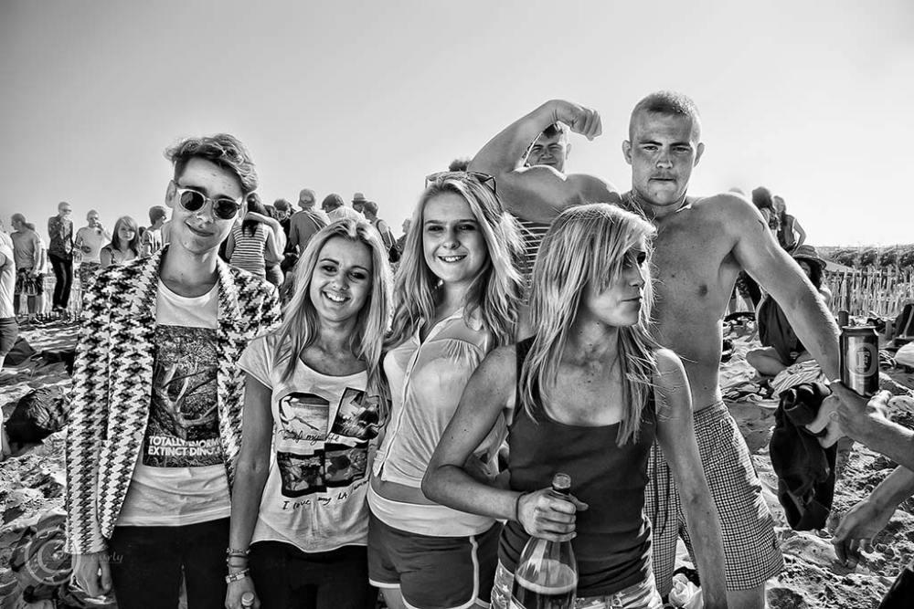 School  party, Sandhaven Beach South Shields