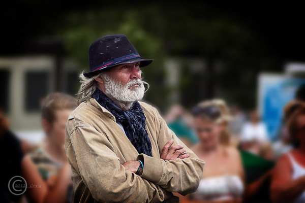 Man in Bents Park South Shields