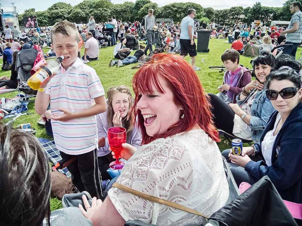 Family in Bents Park, South Shields