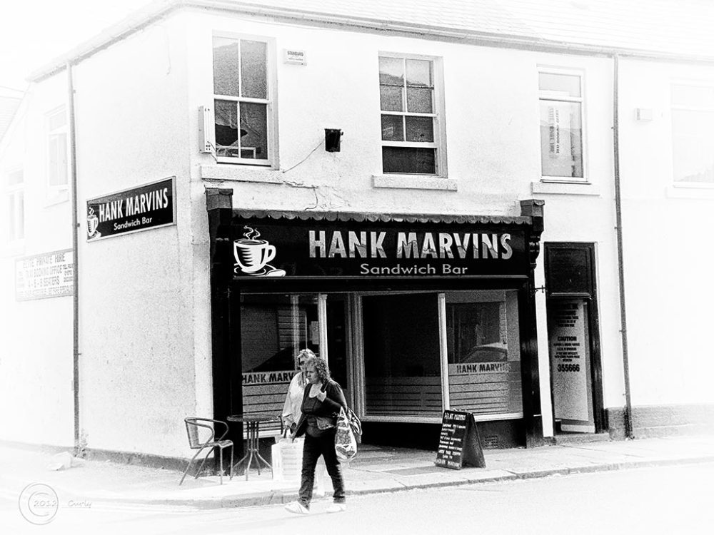 Hank Marvin's shop, Blyth, Northumberland.