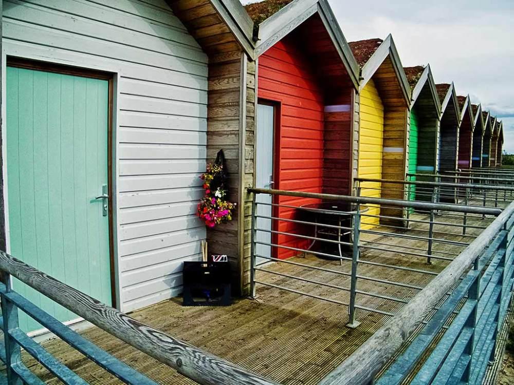 Beach huts at Blyth, Northumberland