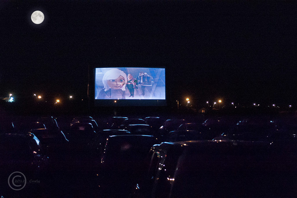 Drive in movie, Bents Park, South Shields