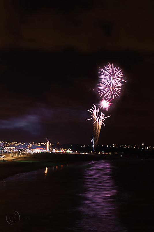Fireworks, Sandhaven Beach, South Shields