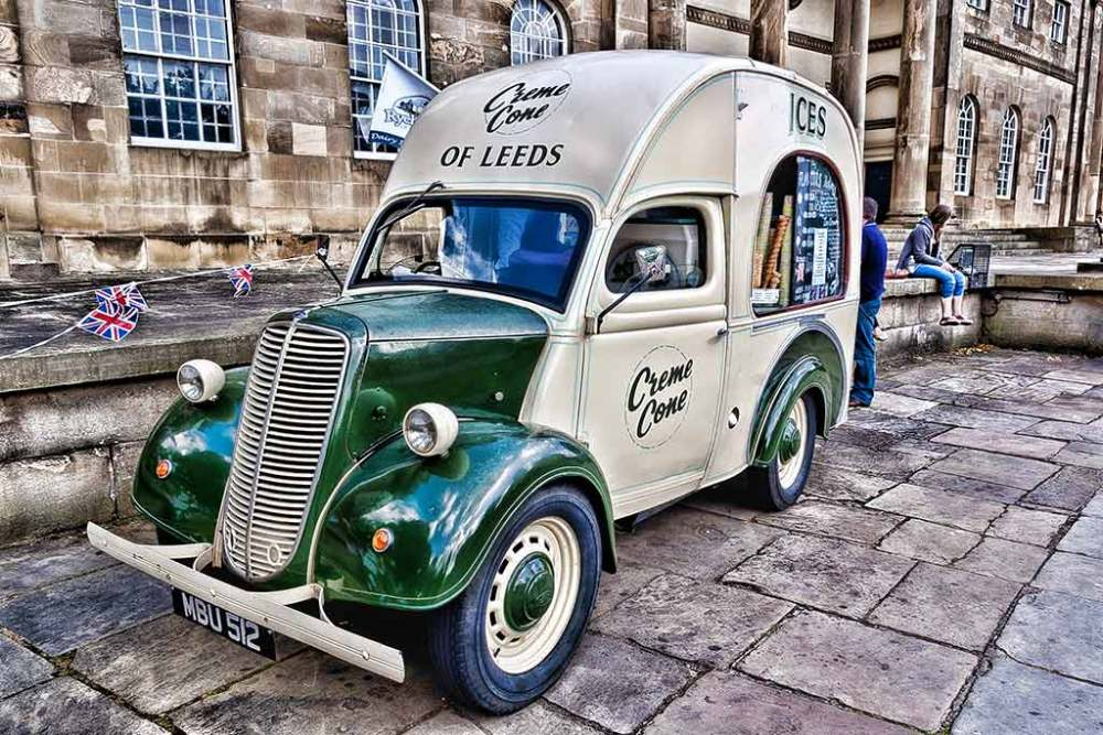 Ice cream van, York City Museum