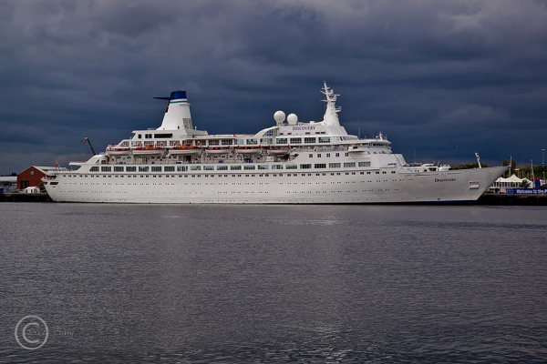 Discovery viewed from South Shields