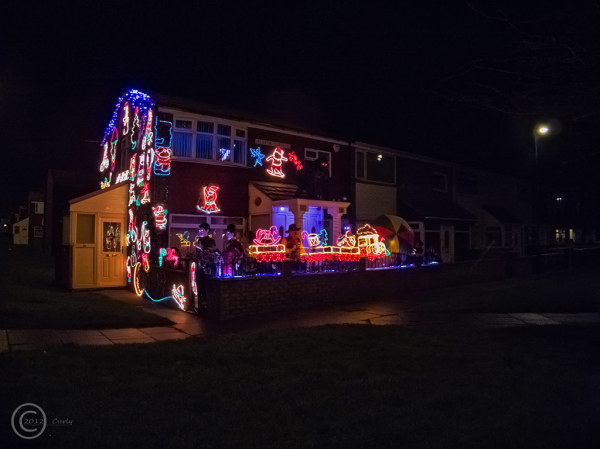 Decorated house in South Shields