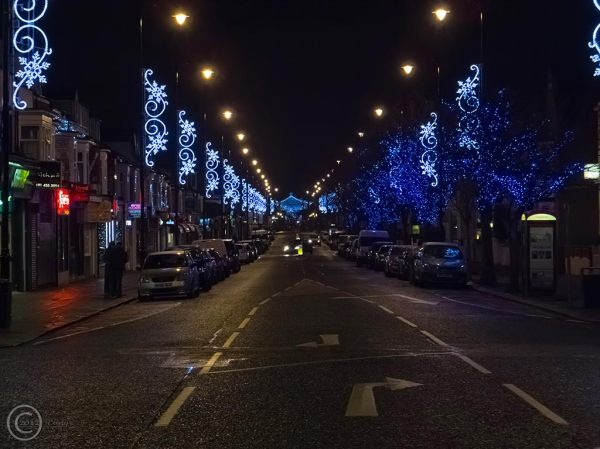 Christmas lights, Ocean Road, South Shields