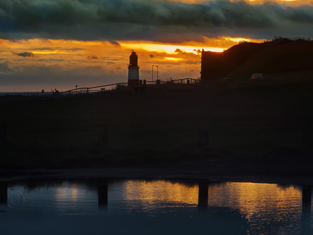 Souter Lighthouse, South Shields at sunrise.