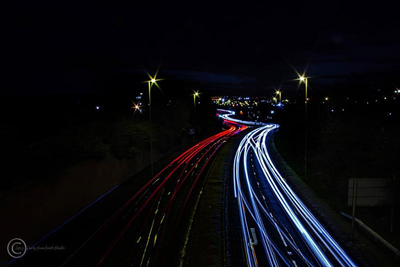 Tyne Dock, South Shields at night.