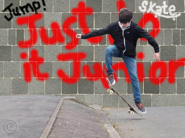"""Junior"" skateboarding in South Shields"